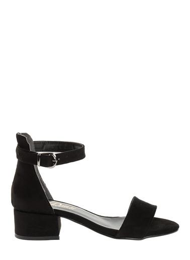 Derigo Kalın Topuklu Sandalet Siyah